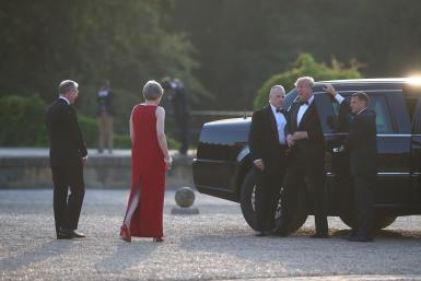 May welcomes Trump