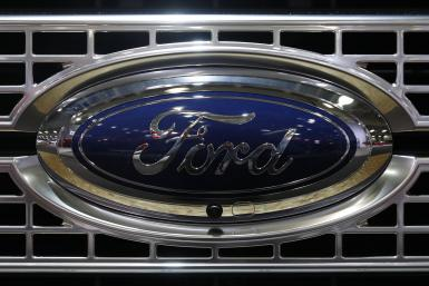 Ford logo on a truck