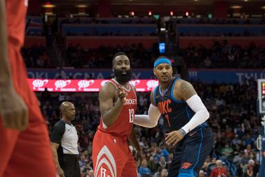 James Harden and Carmelo Anthony