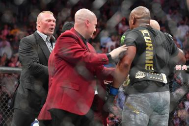 Brock Lesnar and Daniel Cormier