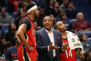 Anthony Davis and Alvin Gentry