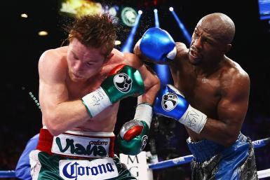 Canelo Alvarez and Floyd Mayweather