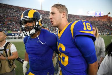 Jared Goff Aaron Donald Rams