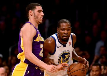 Kevin Durant Warriors Lakers
