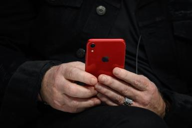 Red Apple iPhone