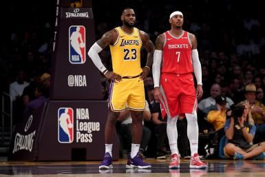 Carmelo Anthony Rockets Lakers