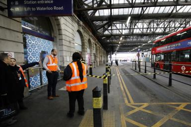 Security personnel at Waterloo Station