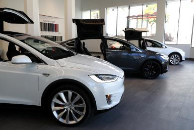 GettyImages-Tesla Model X cars