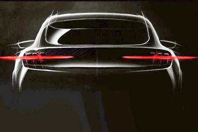 Teased image of the Ford all-electric SUV meant to irritate Tesla