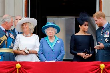 Prince Charles, Camilla Parker-Bowles, Queen Elizabeth, Meghan Markle and Prince Harry