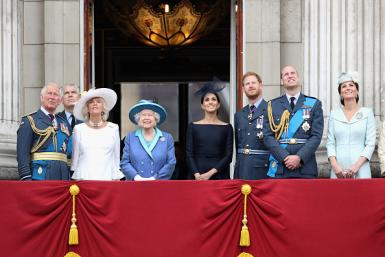 Queen Elizabeth II, Prince Charles, Prince William, Prince Harry, Kate Middleton, Camilla Parker Bowles Meghan Markle