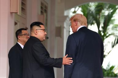 Kim and Trump at Singapore