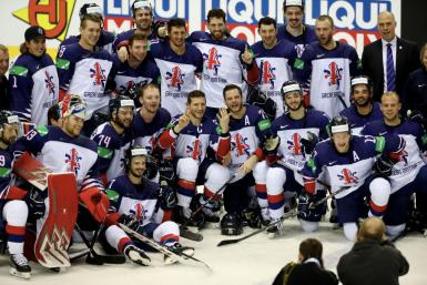 Great Britain Players Celebrate Win in IHHF