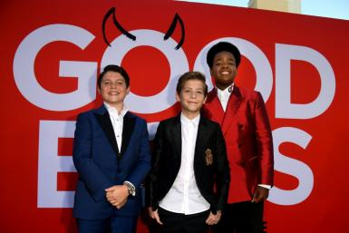 Actors (L to R) Brady Noon, Jacob Tremblay and Keith L. Williams arrive at the Hollywood premiere of Universal Pictures' 'Good Boys' on August 14, 2019
