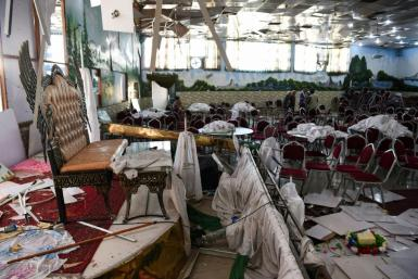 A suicide bombing attack on a Kabul wedding party on August 17 left at least 63 dead