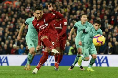 Three and easy: Roberto Firmino scored a hat-trick as Liverpool beat Arsenal 5-1 in December