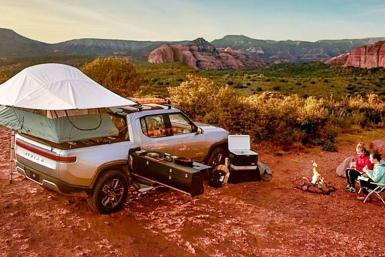 Rivian R1T electric camper