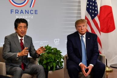 Japan's Prime Minister Shinzo Abe and US President Donald Trump agreed to a deal in principle freeing up bilateral trade