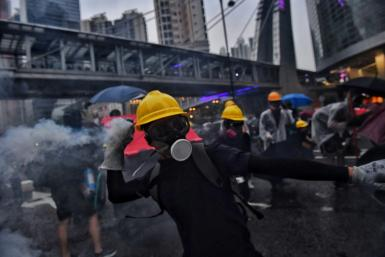The financial hub has been gripped by street demonstrations for the past three months