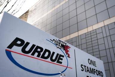 The Stamford, Connecticut offices of Purdue Pharma, whose Oxycontin painkiller is is blamed for fueling much of the US opioid addiction crisis