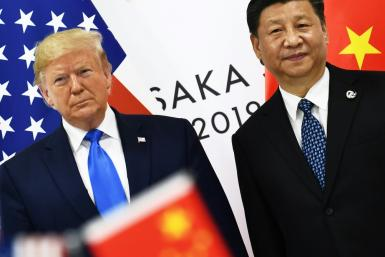 US President Donald Trump, pictured (left) with Chinese leader Xi Jinping in June 2019, has long championed the US manufacturing sector