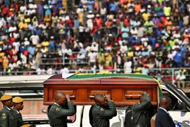 Mugabe's casket has been on display at a Harare stadium before a state funeral on Saturday