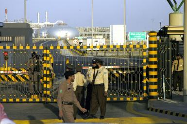 The Saudi Aramco facility at Abqaiq, seen here after an abortive attack by Al-Qaeda in 2006, hosts the world's biggest oil processing plant
