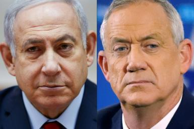 Israeli Prime Minister Benjamin Netanyahu, on the left, the country's longest serving premier, is seeking to fend off a huge challenge from his main rival retired general Benny Gantz, one of the leaders of the Blue and White political alliance
