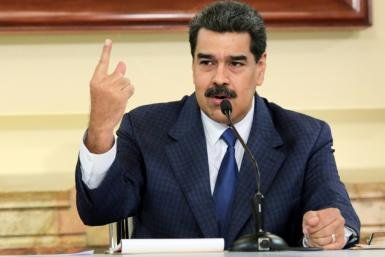 The US Treasury Department imposed sanctions on 16 companies linked to an ally of Venezuelan President Nicolas Maduro, seen here