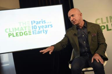 Amazon chief Jeff Bezos pledged the retail giant to reach its Paris climate accord goals 10 years early