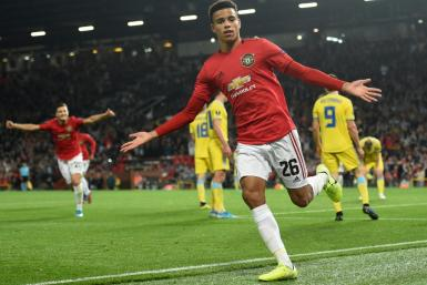 Mason Greenwood, 17, scored his first senior goal for Manchester United