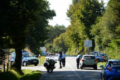 Police set up a security perimeter and evacuated eight houses near the site where a Belgian F-16 fighter jet crashed in western France on Thursday.