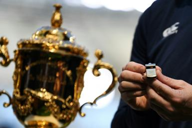 The whistle that will kick off the Rugby World Cup
