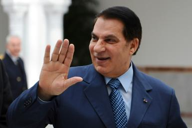 Tunisian ex-president Zine El Abidine Ben Ali at Tunis-Carthage airport in December 2010, less than a month before being forced from power