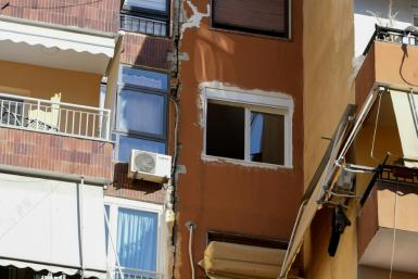 Damage was reported to buildings in Tirana after a strong earthquake on Saturday
