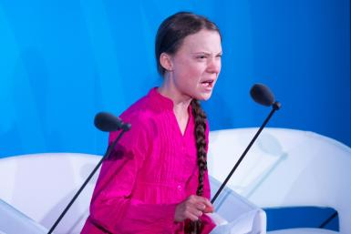 Hours after her impassioned speech against world leaders for failing to act on climate change, Donald Trump described Greta Thunberg as a 'very happy young girl looking forward to a bright and wonderful future'