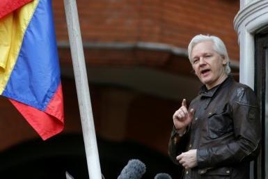 Wikileaks founder Julian Assange speaking on the balcony of the Embassy of Ecuador in London in 2017. But where his less public utterances covertly recorded?