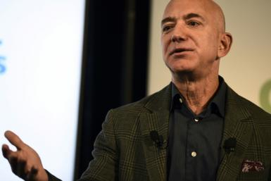 Amazon, whose founder and CEO Jeff Bezos is seen here, set out a series of principles on corporate responsibility, including calling for regulation of facial recogition technology