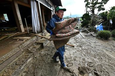 Clean-up and rescue efforts continued in Japan three days after Typhoon Hagibis slammed into the country