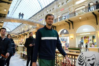 Hotfoot from success in Shanghai Daniil Medvedev arrives back in Moscow