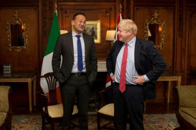 There are growing hopes that the EU and Britain can reach a Brexit deal after Ireland's Leo Varadkar (L) and Britain's Boris Johnson hailed talks on the Northern Ireland question
