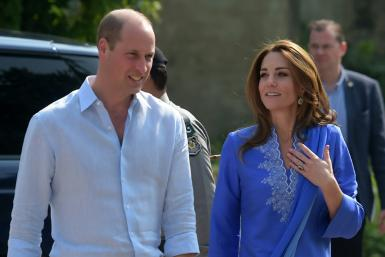Britains Prince William and Kate Middleton