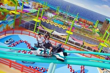Space Cruiser, the world's longest sea roller coaster aboard the cruise ship, Global Dream