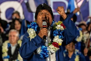 Bolivia's President and presidential candidate Evo Morales (pictured October 16, 2019) is the region's longest-serving leader stillin power and has brought relative stability to the country