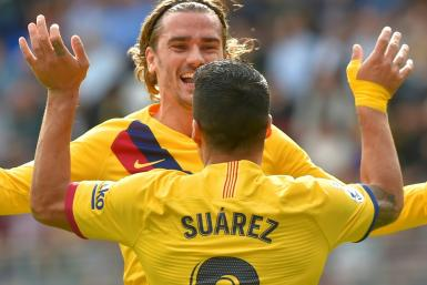 Antoine Griezmann and Luis Suarez both made it on to the scoresheet in Barcelona's 3-0 over Eibar - Lionel Messi also scored