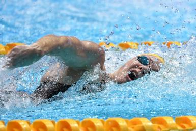Australia's Cate Campbell helped the London Roar seize the lead on the opening day of the International Swimming League meet Saturday in Lewisville, Texas