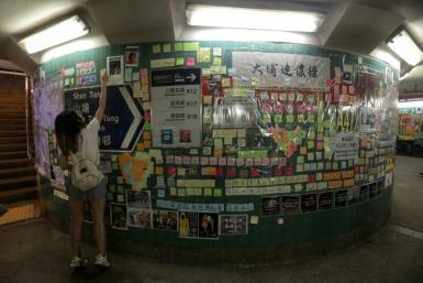 "Hong Kong's ""Lennon Walls"" are seen as a peaceful protest method but have also become flashpoints for violence"