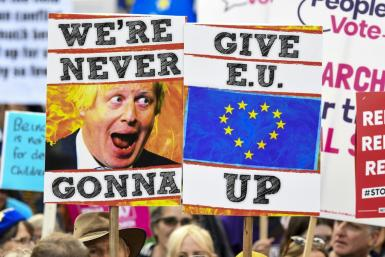 Thousands of protesters are calling for a second referendum on Britain's EU membership