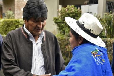 President Evo Morales stands accused of corruption and many are enraged at his refusal to step aside, even though Bolivia's constitution bars him from running