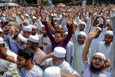 Protesters took to the streets of Dhaka angry at police who fired on a crowd on Sunday leaving four dead